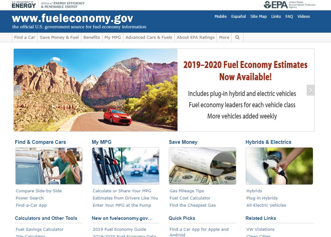 美国环保署官网